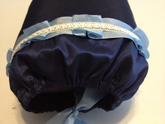 Navy Silk Muff Trim