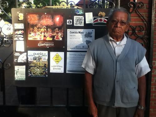 Enrique and the foamboard, Pochimilco Market @ Oaxaca 07.2012