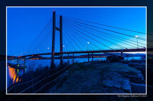 Northhordaland Bridge in Twilight zone by Tor Magnus Anfinsen