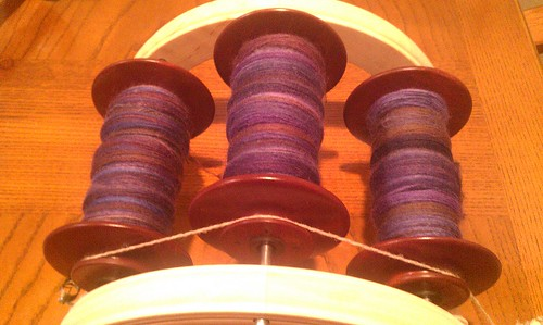 Woo! Day 20 spinning complete by Miss Knotty