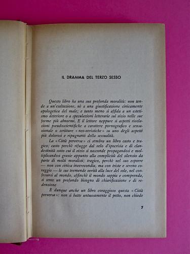 Gore Vidal, La città perversa, Elmo editore 1949. Pag. 7 (part.), 1