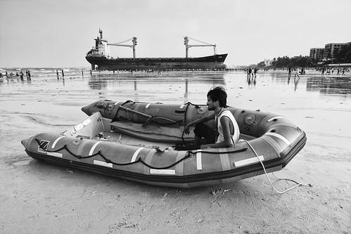 Coastguard Guarding MV WISDOM by Indro Images