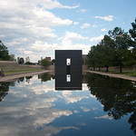 OKC Memorial Eastern Time Gate and Reflection
