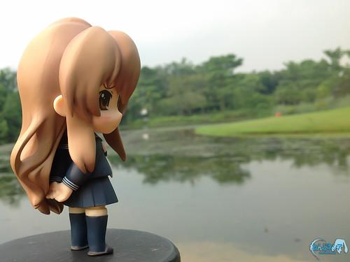 She looks sad ...