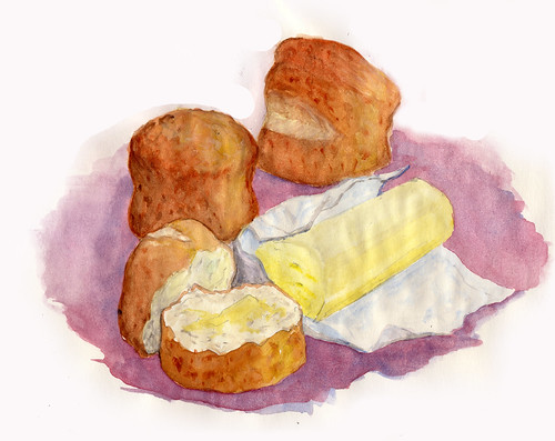 Homemade butter (& scones)