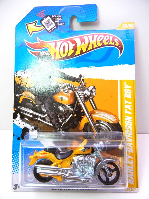 hot wheels harley davidson fat boy yellow (1)