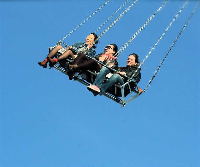 boston revere fair people on swing