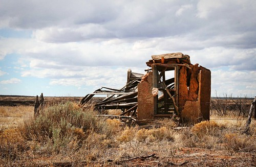 Abandoned, crumbled building on Old Route 66 in New Mexico. Copyright Liberty Images/Jen Baker; all rights reserved.
