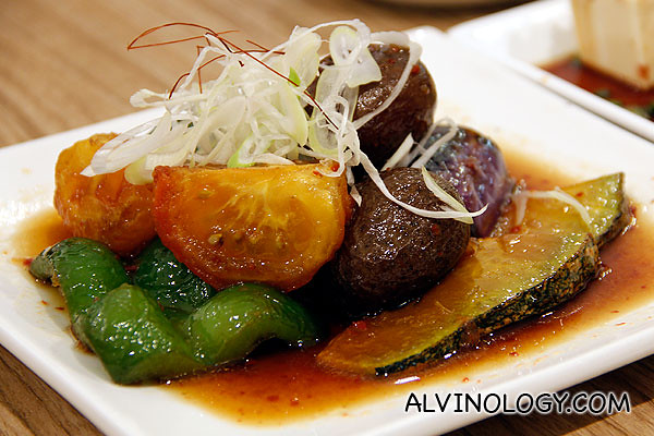 Deep fried vegetables in dashi broth