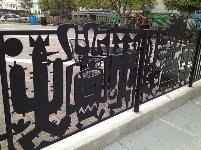 Art fence, Mission Playground, Valencia Street