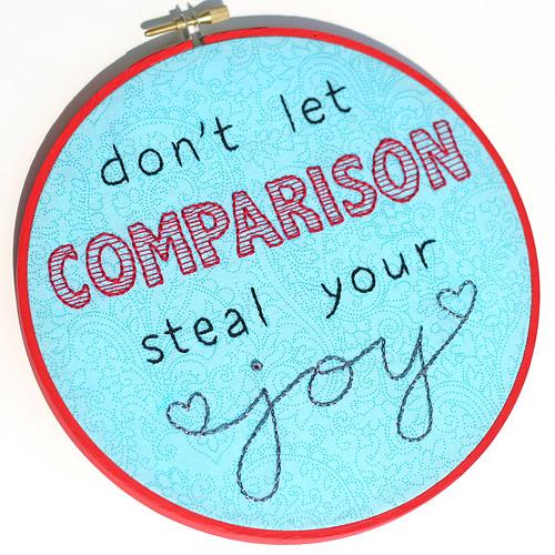Comparison Embroidery