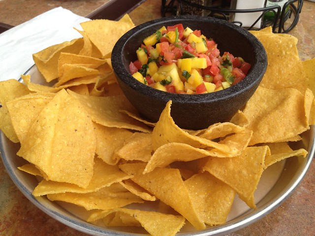 Chips and mango salsa - Taco Mamacita