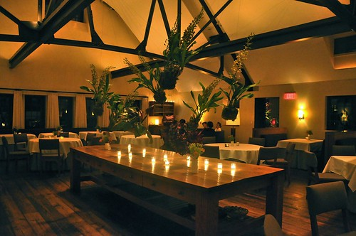 Dining room, floating plants