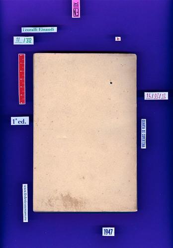 Italo Calvino, Il sentiero dei nidi di ragno, Einaud 1947. i coralli, 11. Quarta di copertina