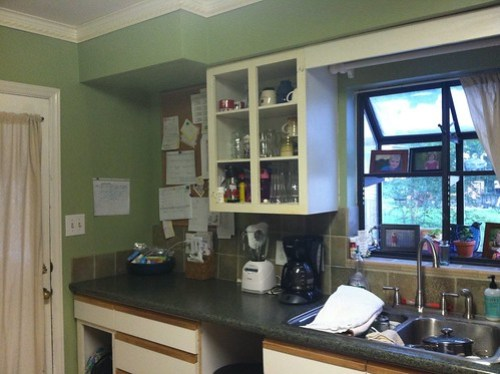 kitchen before: w/o microwave