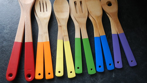 Rainbow Wooden Spoons 24