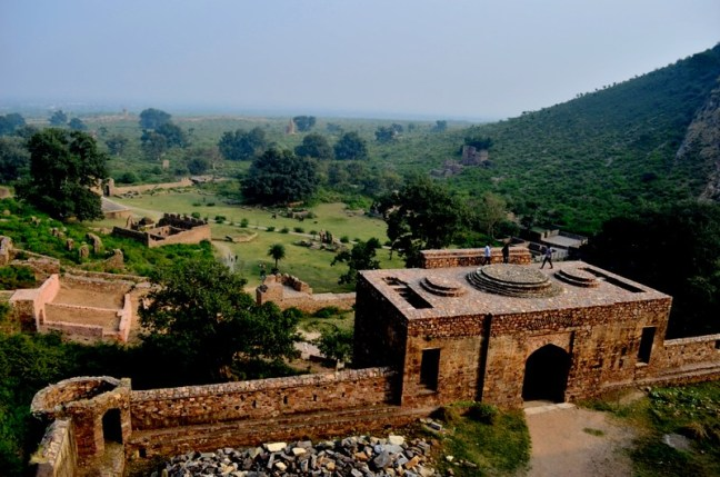 View of Fort Complex and the Bhangarh city from the the Fort