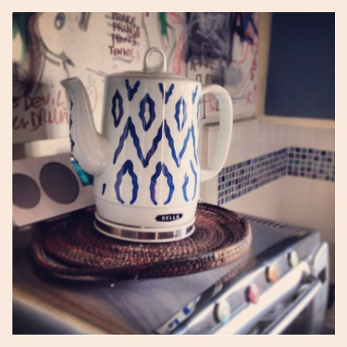 """Look what came in the mail today from @2people1life! Now I can make a """"proper"""" cup of tea. #nomicrowave"""