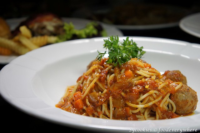 12.Chapter one- Pork meatball pasta RM 20 in tomato sauce (1)