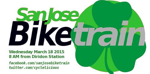 San Jose bike train with dates