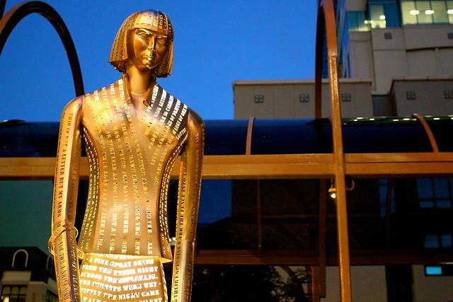 Thursday: new Katherine Mansfield statue