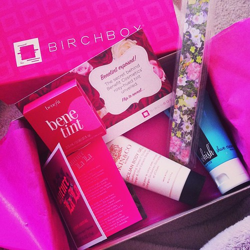 My 'Easter Basket' just came in the mail... a subscription to #BirchBox... Beauty samples every month, woohoo!