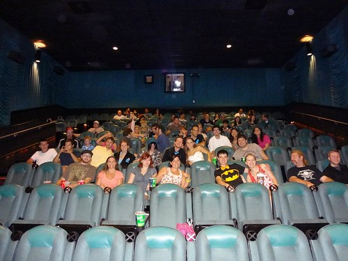 We ended the reception early to see the new Batman movie.