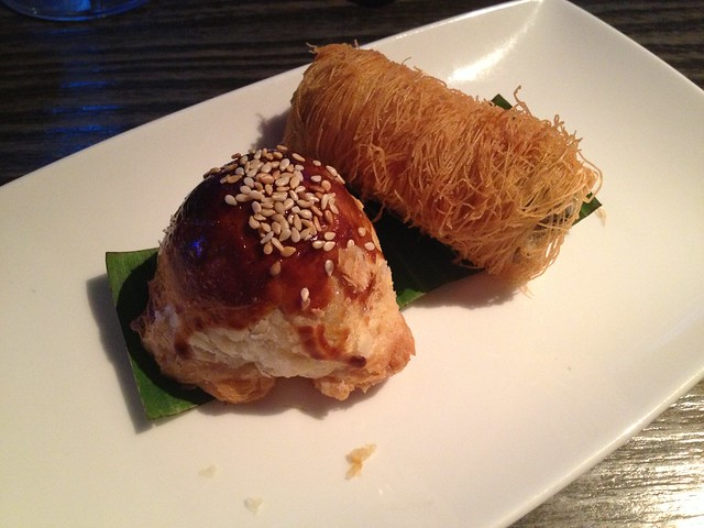 Baked venison puff and sweet potato mushroom mei-si roll - Yauatcha