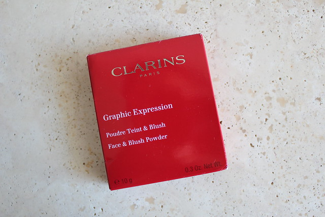 clarins graphic expression face and blush powder review and swatches