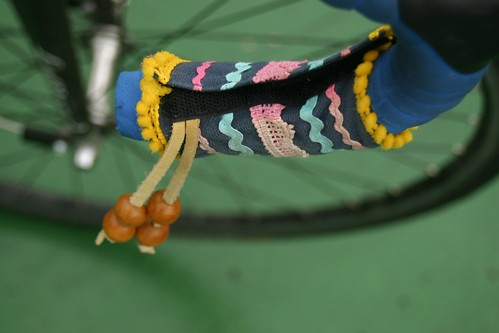 Bike handle decoration with beads