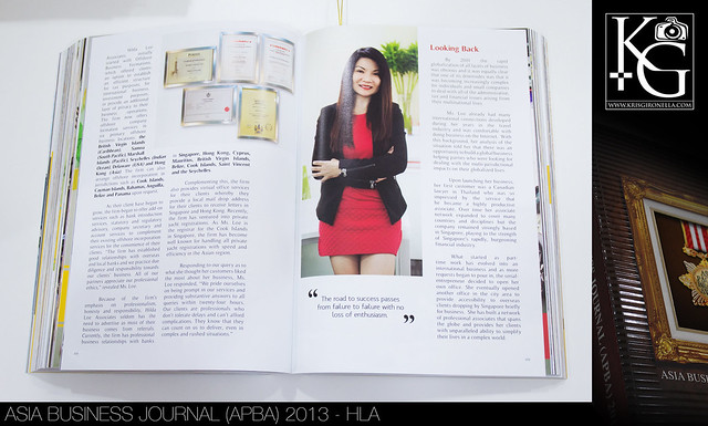 Asia Business Journal (APBA) 2013 – HLA (Corporate Photography)