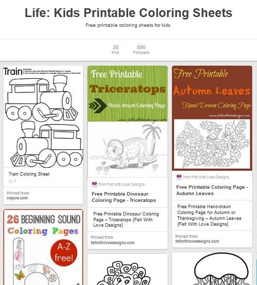 Kids Coloring Sheets Free Printable