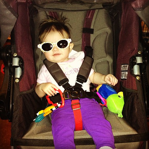 Evey took me on a little jog today #bobstroller #fitmom #healthy #fitfamily #babyweight #workitgurl