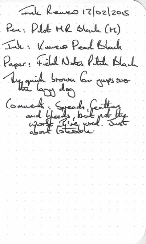 Kaweco Pearl Black Ink Review - Filed Notes
