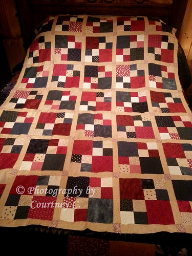 Americana Four-Patch Quilt