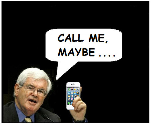 Newt Gingrich and his Pocket Communicator