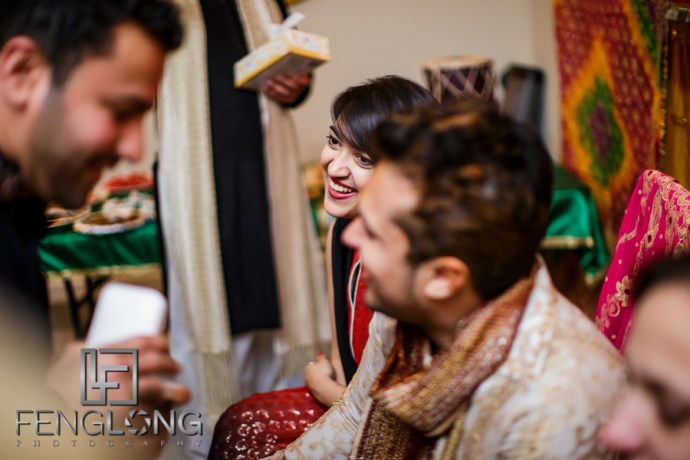 Groom and sister on Mehndi night