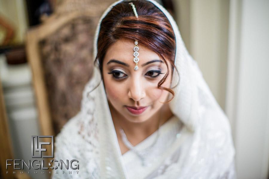 Bride waiting for groom to go to Jamatkhana