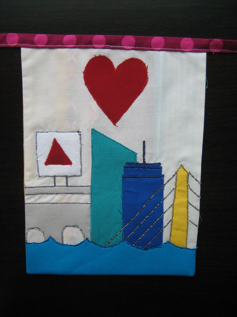 To Boston with Love flag