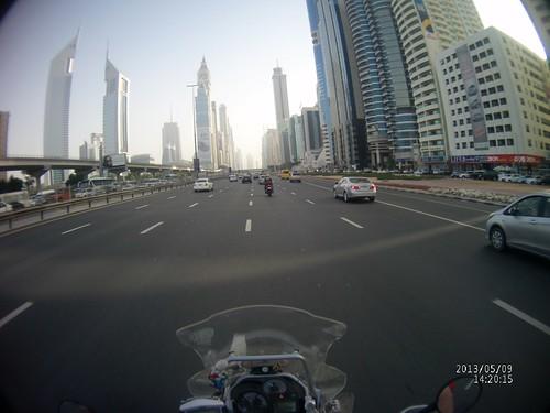 Veduta del centro di Dubai