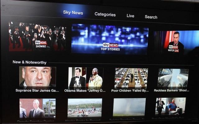 Sky News on an Apple TV