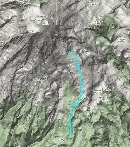 Camp Muir GPX google maps