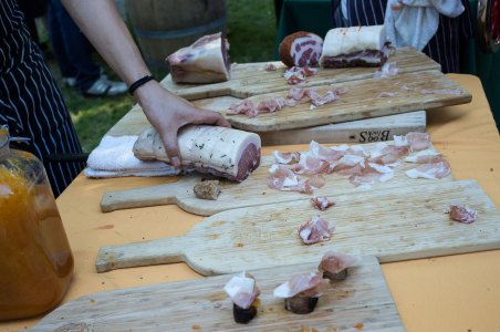 Ham carvings with Apricot Jam