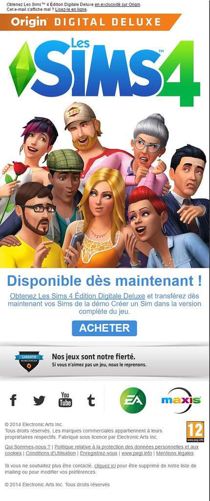 Newsletter Les Sims septembre 2014