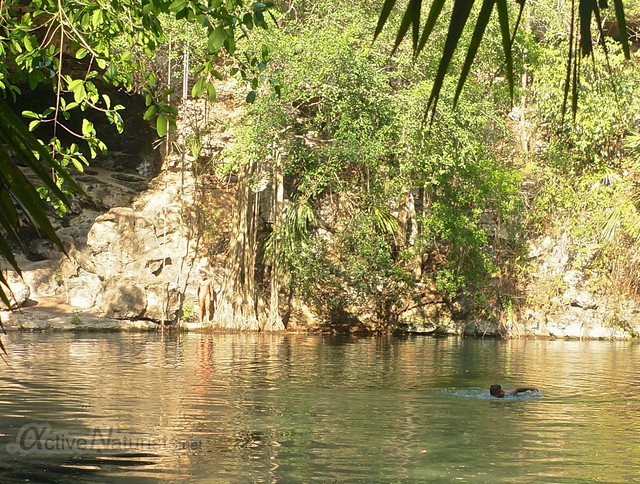 naturist 0000 cenote Kaipech, Yucatan, Mexico