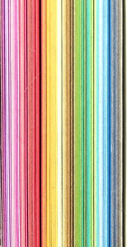 multicoloured cardboard