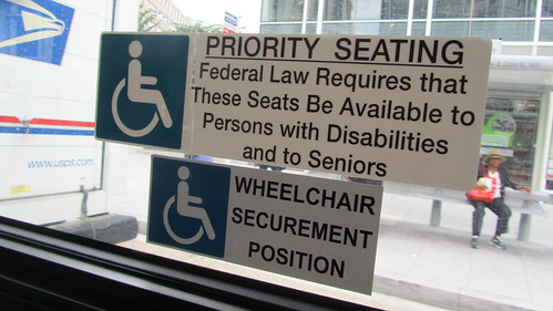 Priority seating notice