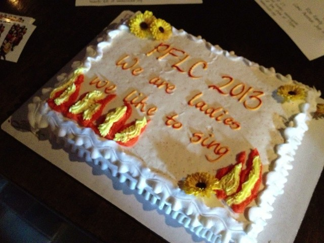 Donning fire colors, enjoying cake - this PFLC season is in full swing now! #project365