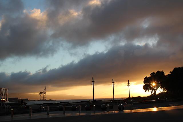 Tuesday: sun and haze