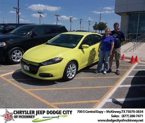 Dodge City of McKinney would like to say Congratulations to Donald Parris on the 2013 Dodge Dart by Dodge City McKinney Texas